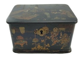 Antique Chinese Export Tea / Spice Caddy Box Paper Mache - $222.75