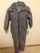 VINTAGE BOYS GRAY SEARS INSULATED ONE PIECE SNOWMOBILE SUIT sz 12 / 30 s... - $31.68