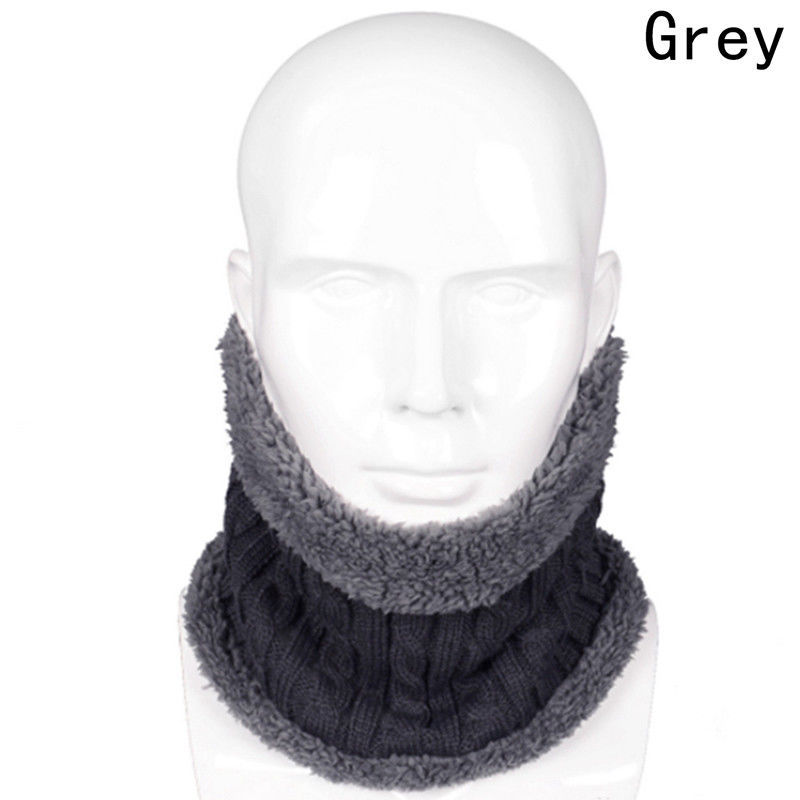 Warm Scarf Men Winter Wool Knitted Collar Thick Neck Outdoor Riding Earflaps