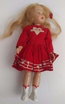 "Vintage 7.5"" Hard Plastic Doll Mary Hartline Sleepy Eyes Toy Mid-Century... - $17.37"