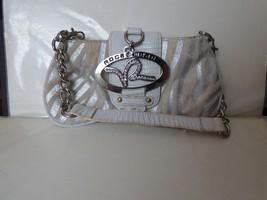 1999+ Rocawear Small Baguette Handbag Evening Purse Faux Fur Silver Rhin... - $25.00