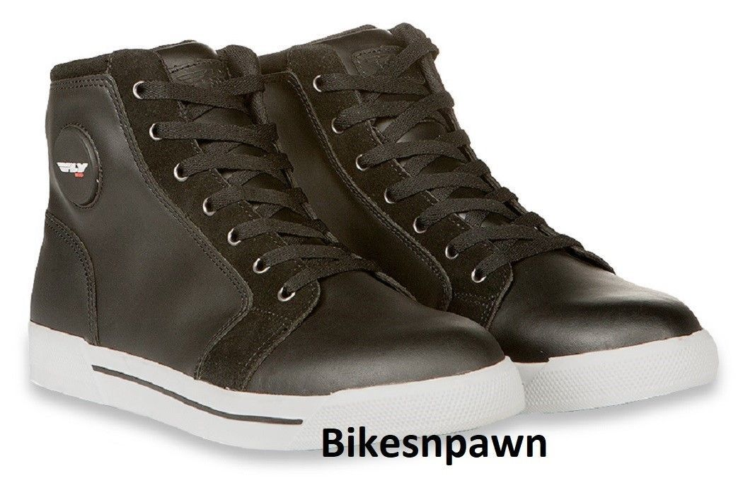 New Sz 12 Mens FLY Racing M16 Waterproof Leather Motorcycle Street Riding Shoe