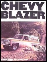 1977 Chevy Chevrolet Blazer Truck Original Brochure GM - $6.63