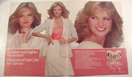 1980 Cheryl Tiegs Clairol Clairesse Hair Color Photo Ad 2 pages Giorgio ... - $9.99