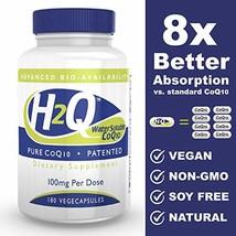 H2Q 8 x Absorption CoQ10 100mg Non GMO, Soy Free, Vegan 180 vegecaps - $90.81