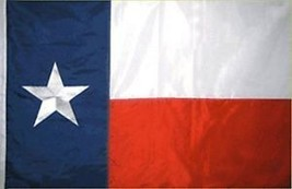 3x5 Embroidered Sewn Texas Flag 3'x5' House Banner Pole Sleeve - $38.00