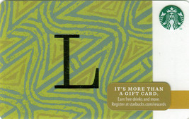 Starbucks 2014 Monogram L Collectible Gift Card New No Value - $3.99