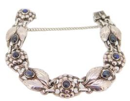 Georg Jensen Sterling Silver Bracelet #3 with Labradorites (#J3966) - $2,042.50