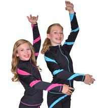 Chloe Noel J36 Spiral Skating Jacket with Rhinestones- Fuchsia Size Chil... - $69.99