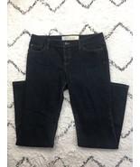Ann Taylor Loft Slim Boot Women's Dark Wash Denim Blue Jeans Flap Pocket... - $17.34