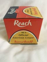 Vintage New in Box Official Cronin REACH American League Baseball No. 0 image 4