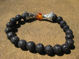 Haunted Fire Dragon Bracelet FREE with 50.00 purchase essential oil diff... - $0.00