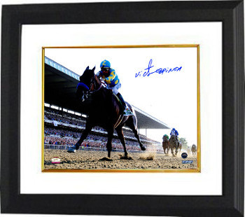 Primary image for Victor Espinoza signed 8x10 Photo Custom Framed 2015 Belmont Stakes Horse Racing