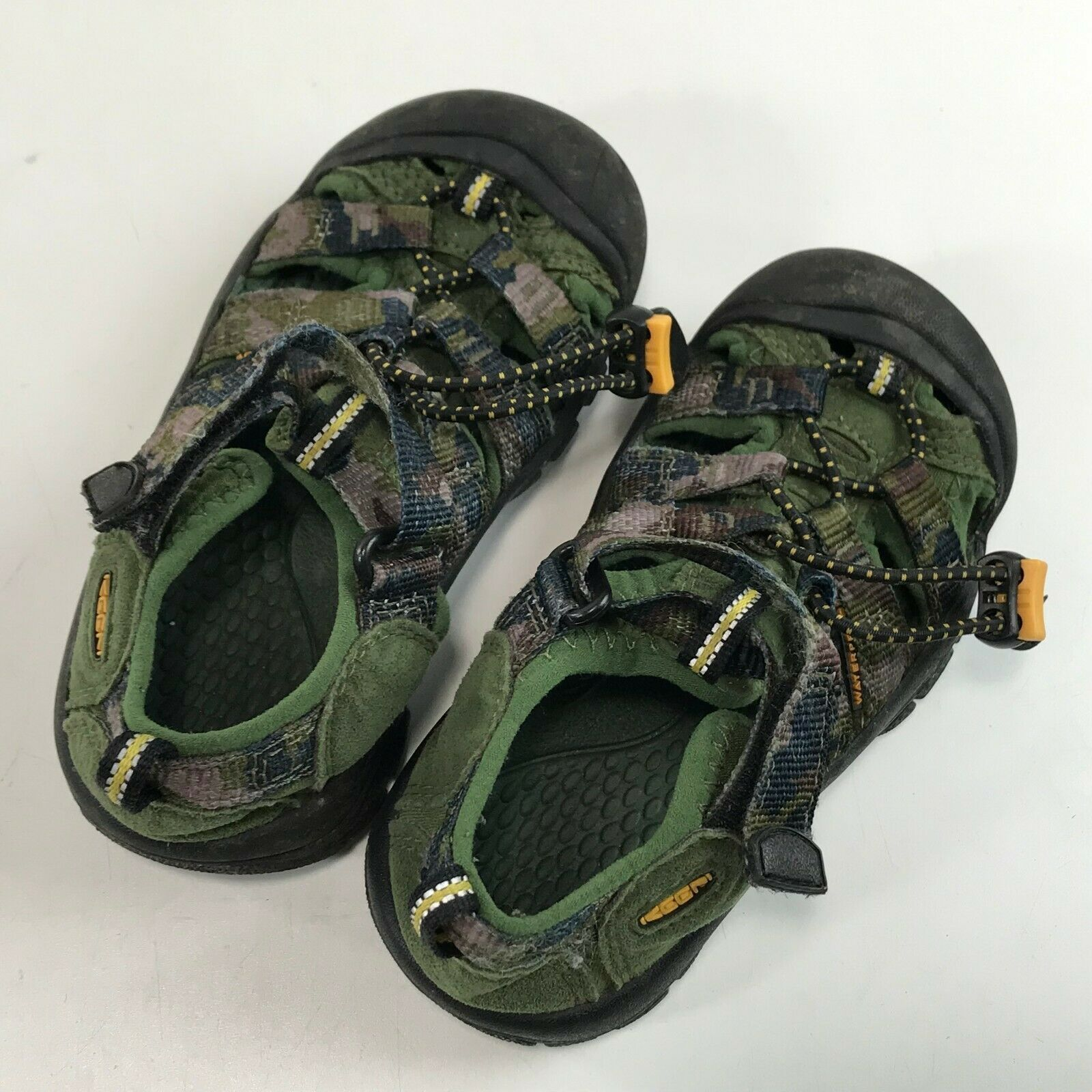 Boys KEEN Newport H2 Water SandalS Green Camo Camouflage, Toddler 11 image 5