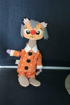 Vintage Holiday Fair PJ Cat Dressed in Orange Polka Dots Tagged - $29.92