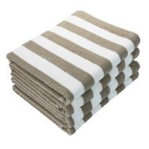 4 Pack of Cabana Towels - 30x70 - Perfect Pool Towel- Beach Towel- Tan S... - $39.99