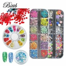 Bittb® Nail Art Charms Rhinestone Decoration Gems Glitter Sequins Flakes... - $5.79
