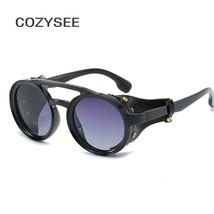 Retro Men Steampunk Sunglasses Men Women 2019 Goggle Sun Glasses Vintage... - $17.67