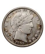 1899 Silver Barber Half Dollar 50C (Fine, F Condition)  - $65.65 CAD