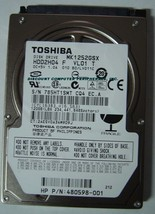 "New 120GB 2.5"" 9.5mm SATA Drive Toshiba MK1252GSX HDD2H04 Free USA Shipping - $48.95"