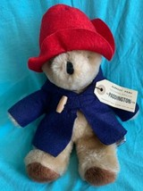 "Vintage 8"" EDEN Paddington BEAR Plush Stuffed Animal Blue Coat Red Hat 1981 - $14.99"