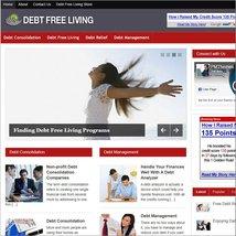 Debt Free Living Mobile Responsive WordPress Blog - Includes Hosting & S... - $21.05