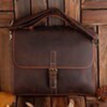 Sale, Classic Leather Messenger, Satchel Bag, Leather Laptop Bag image 2