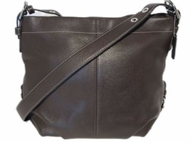 Coach F15064 Brown Pebbled Leather Handbag Convertible Duffle Hobo Cross... - $69.00