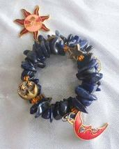 Judy Strobel Magical Blue Howlite & Cloisonne Enamel Sun & Moon Bracelet - $49.95