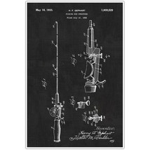 Fishing Rod Patent Blueprint Poster, Photo Art - $11.39+
