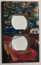 Cars Lightning McQueen Light Switch Power Outlet wall Cover Plate Home Decor image 2