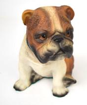 Arnart English Bulldog Sitting Figurine Dog 1984 Vintage - $28.66