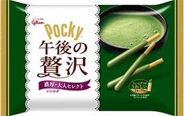 Glico Pocky chocolate sticks Rich Matcha Green tea Dagashi snack Japan
