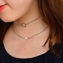Fashion Simple Pear Multi-layered Choker Necklace image 2