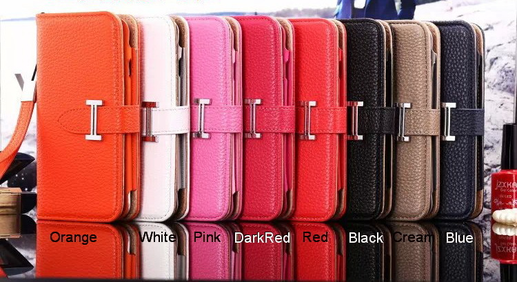 *NEW H Style Leather Wallet Flip Case iPhone 5/5S/5C/SE iPhone 6/6S Plus for sale  USA
