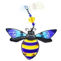 Regal Art & Gift Hand Painted Metal Glass Bumblebee Bee Sun Catcher Suncactcher image 2