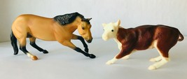 Breyer #3297 Classic Cutting Horse & Calf Both SIGNED by Sculptor Carol ... - $289.29