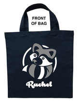 Raccoon Trick or Treat Bag, Raccoon Halloween Bag, Raccoon Loot Bag, Rac... - $11.99+