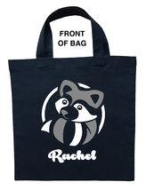 Raccoon Trick or Treat Bag, Raccoon Halloween Bag, Raccoon Loot Bag, Rac... - $11.99+