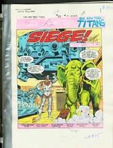 New Teen Titans #35-DC Color Guides Production Art - $272.81