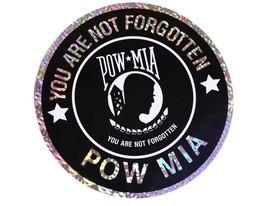 "POW MIA POWMIA Prisoner of War Missing Reflective Decal Bumper Sticker 12"" - $8.88"