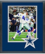 Dak Prescott 2018 NFC Wild Card Game-11x14 Team Logo Matted/Framed Photo - $43.55