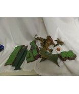 """MEGA BLOKS GREEN AND BROWN DRAGON FIGURE 10"""" WITH EXTRA BOARD PARTS - $28.05"""
