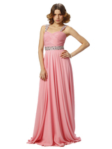 Women's Coral Pink Prom Dresses Gown Long, Evening Gown Long,Formal Party Dress - $154.00