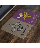 Personalized Welcome Doormat Vikings Saints Football EntryWay Rug  - $37.00