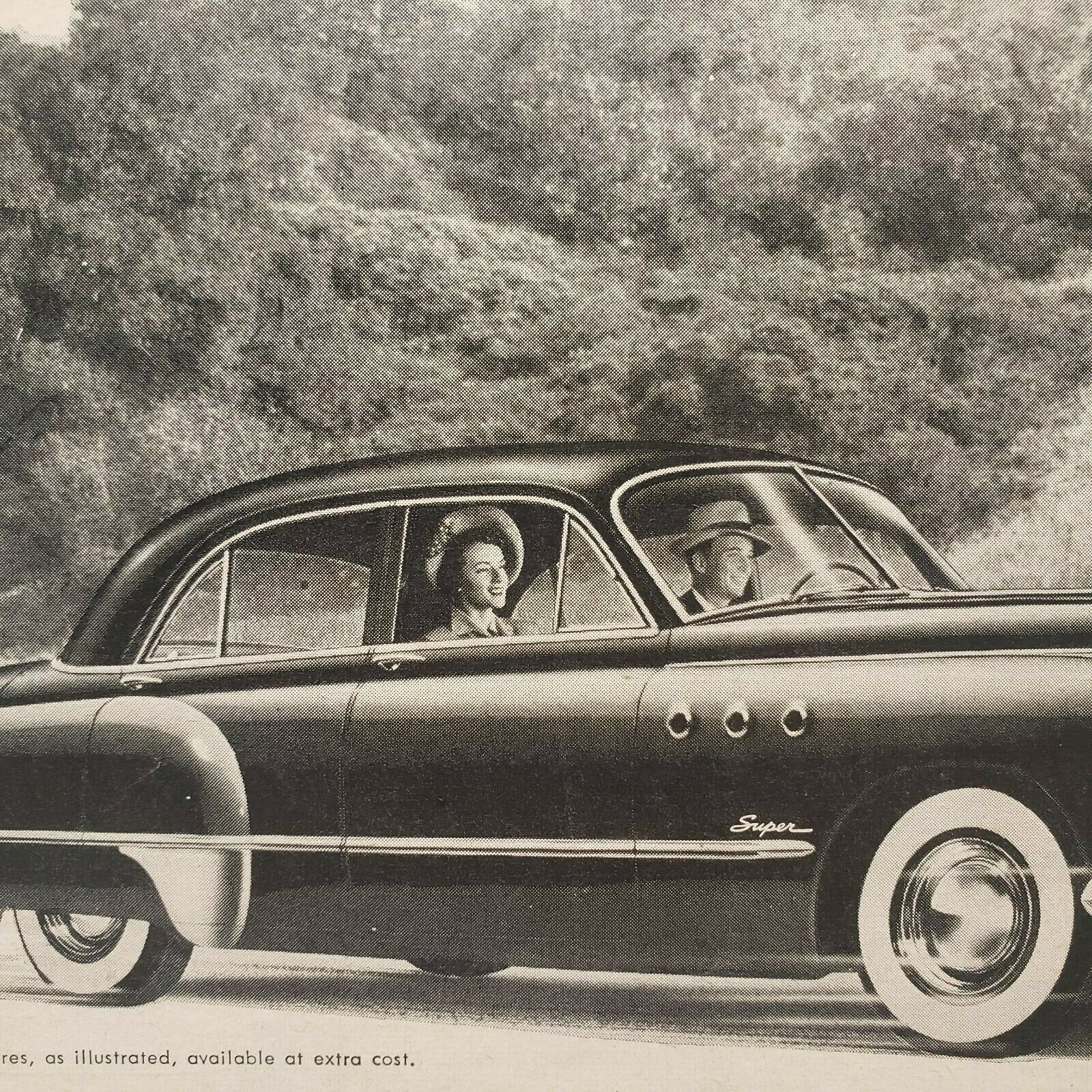 Primary image for 1949 Buick Print Ad Buick Alone Has All These Features