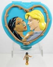 1995 Vintage Polly Pocket Mfr. Disney Pocahontas Playcase w/ One Doll - $15.00