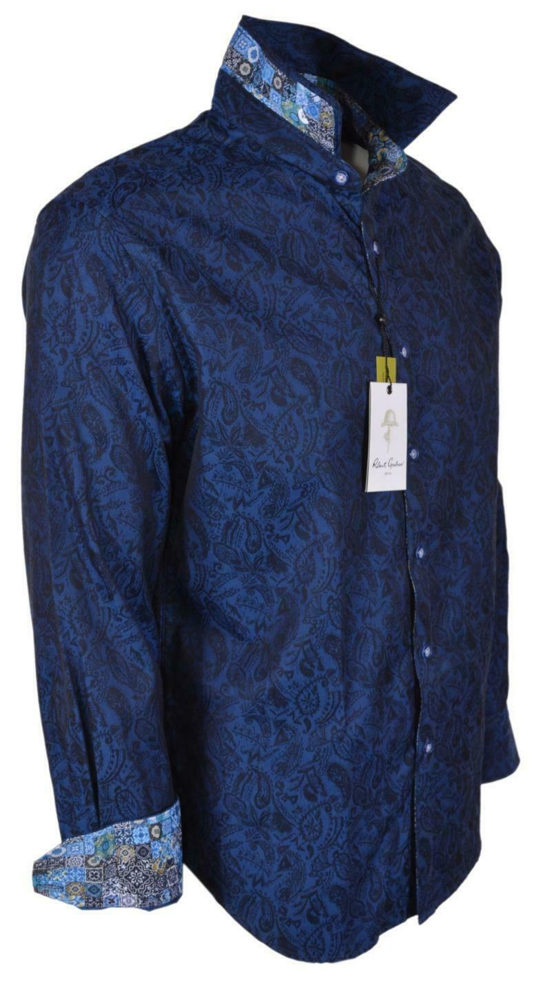 Primary image for NEW Robert Graham $198 GLENOAKS Blue Paisley Button Down Sports Dress Shirt