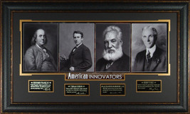 American Innovators unsigned 23x38 4 Photo Engr... - $279.95