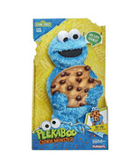 Sesame Street Peekaboo Cookie Monster Talking 13-Inch Plush Toy for Todd... - $37.24